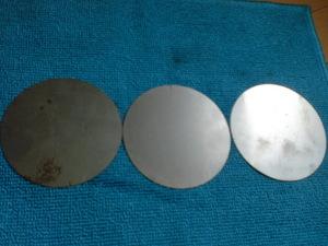鉄の丸板3枚