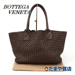 BOTTEGA VENETA ボッテガヴェネタ トートバッグ カバPM レザー イントレチャート こげ茶 イタリア製 16051