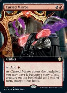 え赤 呪われた鏡 1枚(4枚在庫x 英 良品 C21拡張)/Cursed Mirror(MTG /統率者(2021年版)/Commander 2021 拡張アート/フルアート/)