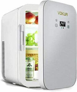 VOKUA 冷温庫 10L ポータブル 小型 冷蔵庫 -9℃~65°C 温度調節可 ワンタッチ操作 LCD温度表示 保温