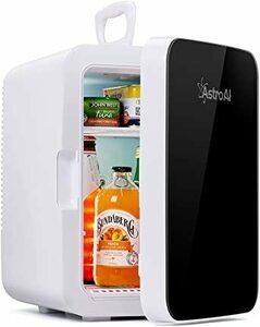 ブラック AstroAI 冷蔵庫 小型 ミニ冷蔵庫 小型冷蔵庫 冷温庫 0 ℃~60℃ 10L 化粧品 小型でポータブル 家庭