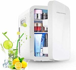 ホワイト(15L) HANSHUMY 冷蔵庫 冷温庫 15L ポータブル ミニ 小型 コンパクト 1つの冷却システム 12V 1