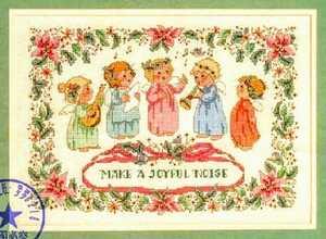 クロスステッチキット■天使のクリスマスキャロル 刺繍キット 14カウント 初級