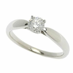 美品 ティファニー ソリテール ダイヤモンドリング PT950 プラチナ ダイヤ 0.32ct F-VVS1-3EX 約9号 指輪 仕上済 中古 送料無料