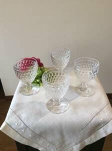 美品〈 Villeroy & Boch 〉 ビレロイ&ボッホ ワイングラス4個セット Used品