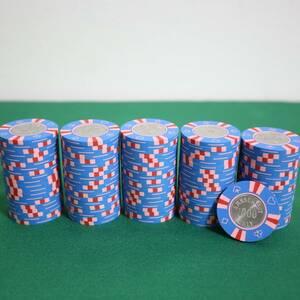 【$1000】送料込 美品 新品同様 カジノチップ ルーレット ブラックジャック バカラ ポーカー POKER コイン 金属 CC.340 casino MGM マツイ