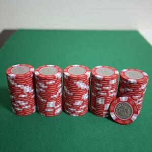 【$1000】 美品 新品同様 カジノチップ マツイ MGM ルーレット ブラックジャック バカラ ポーカー POKER コイン 金属 CC.210-E CASINO