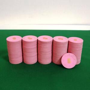 本格カジノチップ 100枚 Paulson クレイ コイン ポールソン ルーレット ブラックジャック バカラ ポーカー POKER 粘土 P