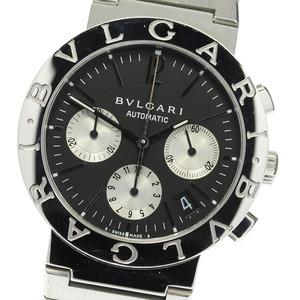 保証書【BVLGARI】ブルガリ ブルガリブルガリ クロノグラフ BB38SSCH 自動巻き メンズ