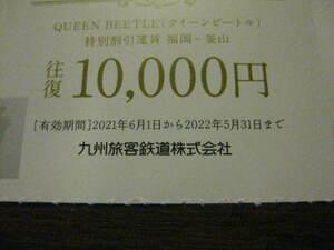 JR九州 株主優待券 x1枚【JR九州高速船往復クイーンビートル(福岡⇔釜山)】