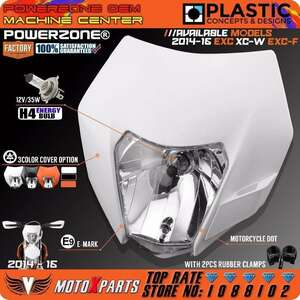 Powerzoneヘッドライトヘッドランプ用ktm sx f exc xcf smr 2014 15 16オートバイダートバイクmxエンデューロsupermotoで