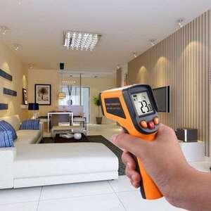 【送料無料・最速配達】赤外線放射温度計 -50~400℃ 熱電対温度計 デジタル温度計 表面温度計 室内室外温度計 ハンドヘルド