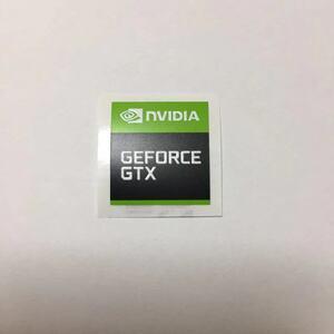 送料無料 複数購入可能【NVIDIA GEFORCE GTX】17*18mm エンブレムシール ステッカー