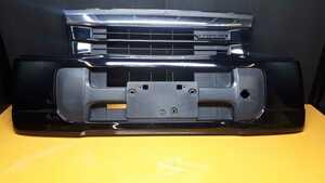 H14 バモス 中期 HM1/2 純正 フロントバンパー ターボ エンブレム付:黒 B92P 4WD HM3/4 ホビオ HH5/6 アクティー HA6/7 トラック ホンダ