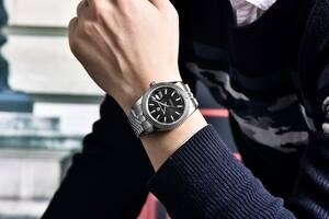 メンズ機械式時計トップブランドの高級腕時計自動スポーツステンレス鋼防水時計男性レロジオmasculino