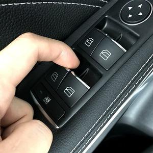 車のスタイリング 窓 リフトボタン スイッチ 装飾カバー ステッカー トリム メルセデスベンツ C E クラス W204 W212
