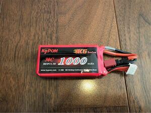 KYPOM 3セル 11.1v 1000mAh 30C放電 T型コネクター