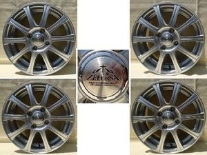 一見美品?!ZELERNA!シルバータイプのMA-1292L軽自動車用!社外アルミホイール14×4,5J+45PCD100一台分4本セット!