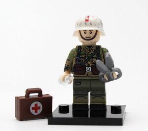 1体 翌日発送 衛生兵 軍人 第二次世界大戦 ブロック ミニフィグ レゴ LEGO 互換 ブロック ミニフィギュア レゴ 互換 u