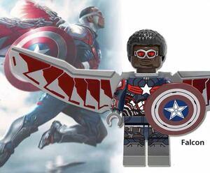 1体 ファルコン マーベル アベンジャーズ キャプテンアメリカ ミニフィグ LEGO 互換 ブロック ミニフィギュア レゴ 互換 k