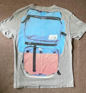 The North Face ザ・ノースフェイス ビンテージ レア Tシャツ S デイパック リュック バッグパック フォトプリント 騙し絵 茶タグ
