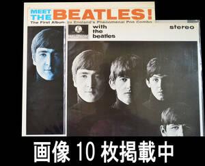 ビートルズ LP BEATLES With The Beatles PARLOPHONE盤 MEET THE BEATLES キャピトル盤 2枚セット レコード 画像10枚掲載中