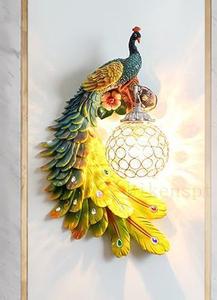 ★極美品★ 高級感溢れる 孔雀/鳥/動物/壁掛け照明 壁掛け灯 インテリア照明 壁掛け灯