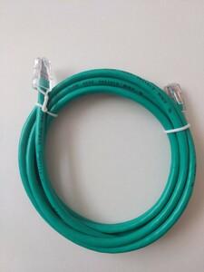 未使用品!LANケーブル CAT-5e 2m 緑色 グリーン AWM E101344 2835 60℃ 30V SHUTTIE-C