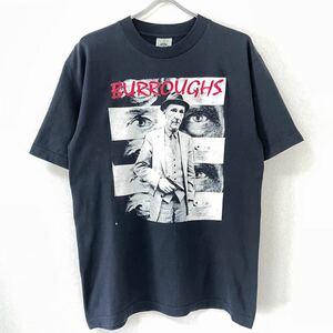 ■激レア■90s USA製 MOSQUITOHEAD BURROUGHS Tシャツ L モスキートヘッド バロウズ 手刷り 偉人 オーバープリント supreme ビンテージ