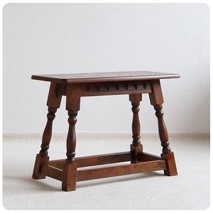 イギリス アンティーク スモールテーブル/木製/古木/スツール/飾り台/店舗什器【椅子としても使用いただけます】Z-141
