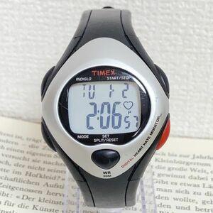 ★ TIMEX デジタル 多機能 腕時計 ★ タイメックス アラーム クロノ タイマー シルバー ブラック 稼動品 F4506