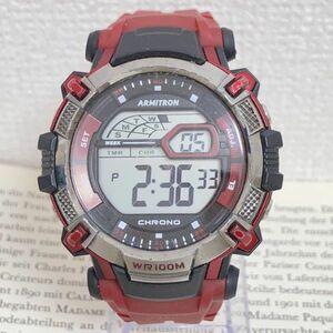 ★ ARMITRON メンズ デジタル 多機能 腕時計 ★ アーミトロン アラーム クロノ タイマー 稼動品 F4574