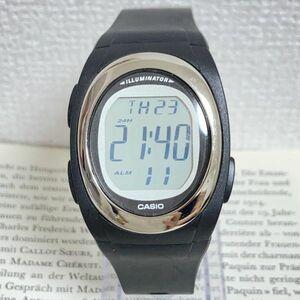 ★CASIO ILLUMINATOR デジタル 多機能 腕時計 ★カシオ イルミネーター F-E10 アラーム クロノ ブラック 稼動品 F4730