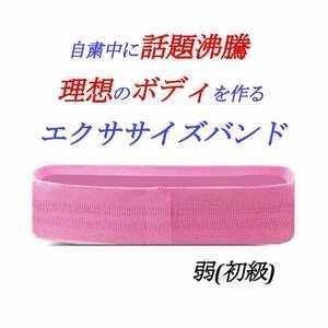 エクササイズバンド 【弱 初級】 筋トレ 美ボディ ストレッチ 自粛 ダイエット 太り シェイプアップ