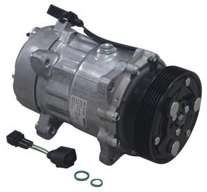 BEHR エアコンコンプレッサー クーラーコンプレッサー (Oリング付き) 1J0820803N/AUDI アウディ A3 S3 8L TT TTS 8N