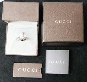 美品 GUCCI グッチ ディアマンティッシマ リング 指輪 K18WG ホワイトゴールド 750 16号 ☆3125-2