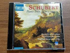 Franz Schubert Piano Trios , Op.99 & 100No.1 & No.2 Pascal Devoyon, etc.FIDELIO 9216