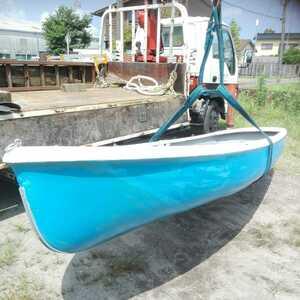 ヤマハ FRPボート 手漕ぎオール付き 水漏れ無し 現状渡し ステンレスアンカー付けます!YAMAHA 長さ3500mm 鹿児島 最終 即決