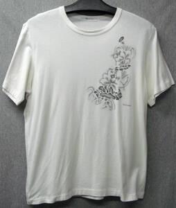 ワイズフォーメン ヨウジヤマモト:花柄 Tシャツ 白 3 ( ヴィンテージ レア Y's for Men Yohji Yamamoto Vintage Flower Tee 3