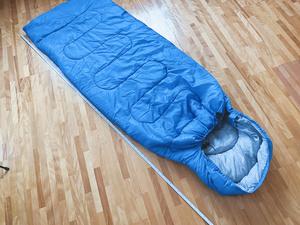 寝袋 シュラフ 封筒型 ( 春 夏 秋 用 ) スリーピングバッグ 青 ブルー 即決 送料無料