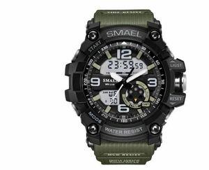 送料無料 SMAEL スマイル腕時計 メンズ ウォッチ 防水 スポーツ アナログ デジタル クオーツ 多機能 ミリタリー ライト 運動