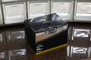【Nikon】ニコン NIKKOR Z 50mm f/1.8 S の外箱