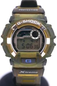 ★カシオ CASIO G-SHOCK X-treme DW-9500 15~21cm 稼働品 1681 緑グリーン ラバー 送料無料★