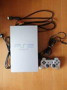 良品 SONY PS2 PlayStation2 プレステ2 本体1式 SCPH-39000 シルバー 動作確認済  即決 コントローラー同色