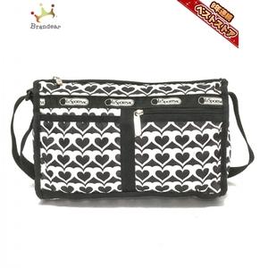 レスポートサック LESPORTSAC ショルダーバッグ - レスポナイロン 黒×白 ハート バッグ