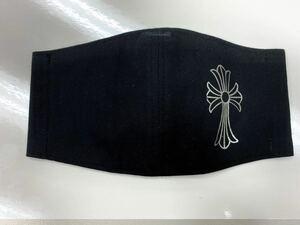 ハンドメイド シンプル黒 クロス 十字架 マスクカバー