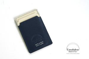 新品|未使用|ラルコバレーノ|L'arcobaleno|スマートカードケース|三越別注|ネイビー×ホワイト