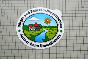 4907 【即決・定額・同梱包可能】 ◆ XL - POLIZEI - 警察と民間人 - ドイツ ◆ ☆ ヴィンテージ ステッカー ☆ ◆