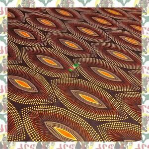 【SALE】アフリカンプリント生地 布 180cmx110cm(2ヤード) アフリカ布 アフリカ生地 アフリカ バティック ハンドメイド素材 barg-d87
