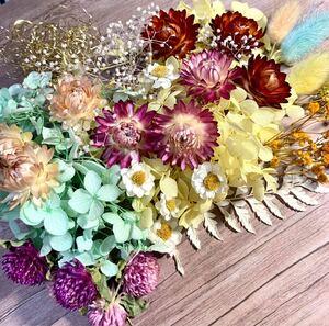 ドライフラワー プリザーブドフラワー 花材セット